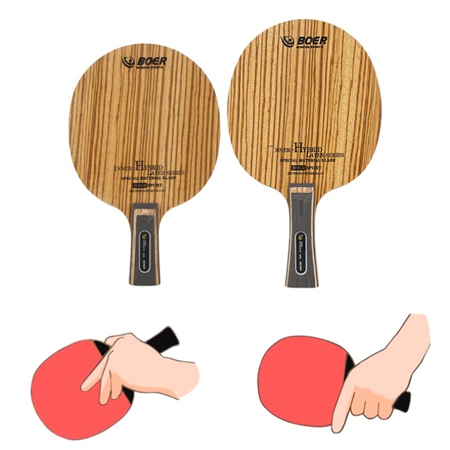 Table Tennis Racket Bottom Handle (Pen-Hold Grip) Lightweight Durable Ping Pong Racket Blade Table Tennis Accessories 4
