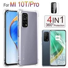 Airbag Hülle & Weich Folie für Mi10TPro, Kamera Protector Display-Schutzfolien Silikon Handyhülle Xiaomi Mi-10T-Pro Hydrogel Film Mi-10T-Lite Phone Case
