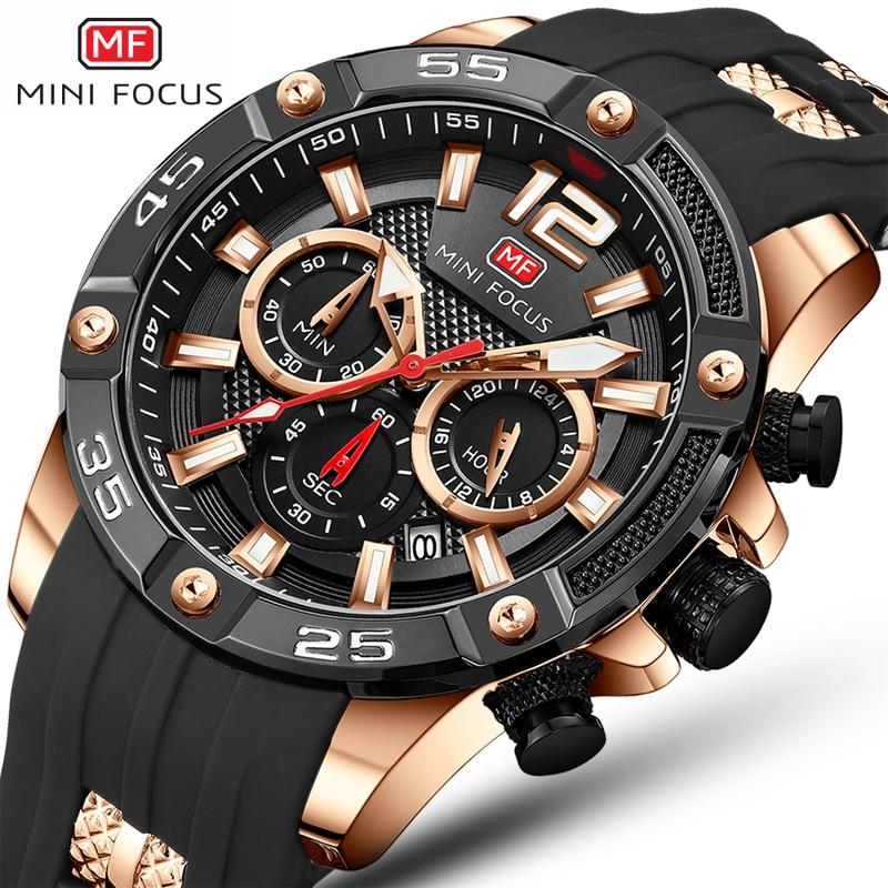 Relojes para Hombre de oro 2019 Relojes para Hombre marca de lujo reloj de los hombres de silicona cronógrafo deportes hombres Relogio reloj