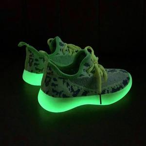 Image 4 - Çocuk ayakkabı kızlar ayakkabı 2020 erkek ışık ayakkabı çocuklar örgü parlayan spor koşu eğitmeni Sneakers kız rahat ayakkabılar erkek
