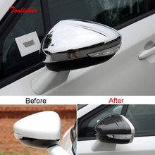 Tonlinker Außen Auto rückspiegel Abdeckung für CITRO-N DS4 S/DS5 LS/DS6 2013-20 Auto Styling 2 PCS ABS Chrom Abdeckung aufkleber
