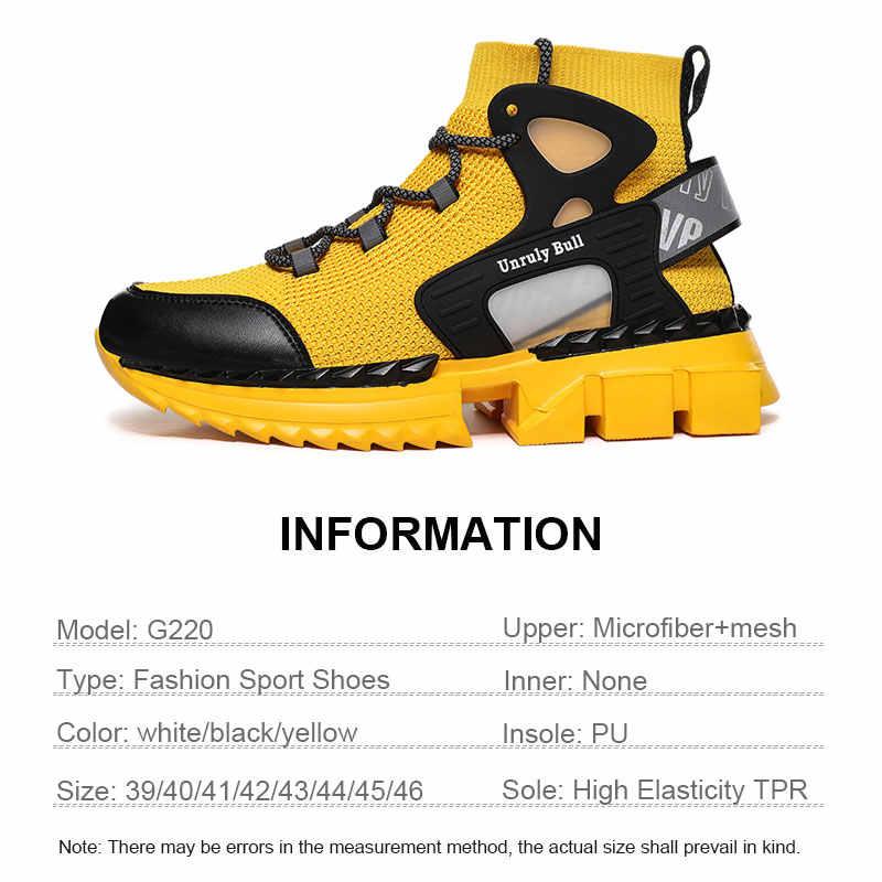 Thời La Mã Mới Mùa Xuân 2020 Mút Thoáng Khí Nam Chun Giày Sneakers Thời Trang Tăng Chiều Cao Người Giày Plus Size 39 ~ 46
