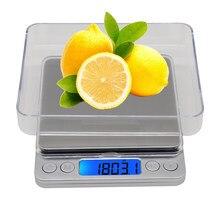 3000g 0.1g Balance électronique 3kg balances numériques poche plate-forme Balance poids Balance bijoux pesant avec 2 plateaux 40% de réduction