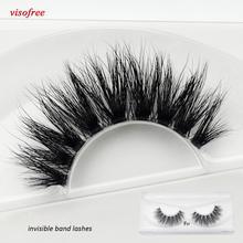 Mink-Eyelashes Clear-Band Visofree Handmade Crisscross F37