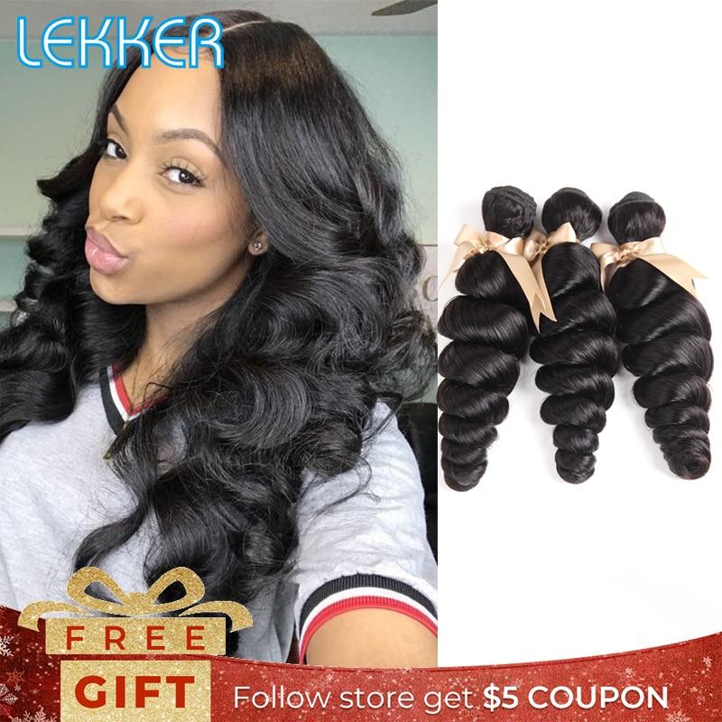 Lekker Malaysian Loose Wave Hair Weave Bundles 3 4 PCS 8-30 Inch 100% Human Hair Bundles Natural Color Human Hair Extensions