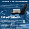 Car Engine Oil Filter Housing Adapter For Chrysler Dodge Challenger Durango Caravan Jeep Ram 3.6L 3.2L 68105583AF 68105583AC 2