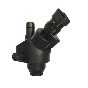 Image 5 - 3.5x 90x simull focal industrial trinocular microscópio estéreo de solda braço duplo microscopio luzes led lâmpada jóias pcb reparação
