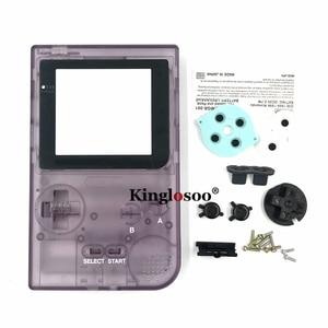 Image 4 - זוהר מלא סט שיכון מעטפת כיסוי מקרה w/גומי pad עבור gameboy כיס GBP כפתורי צדף
