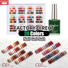 Vendeeni 24 Color/Set City Series Gel Nail Polish Kit Sequin Glitter Cat Eye UV Nail Gel Lacquer Set Pure Color Gel Varnish 15ml