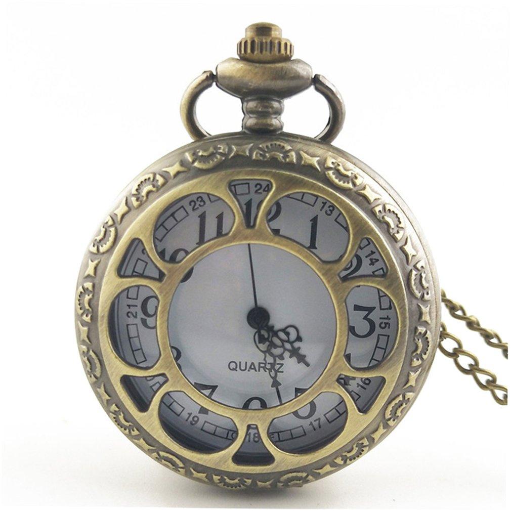 Vintage Hollow Out Flower Fashion Men Women Quartz Pocket Watch Unisex Necklace Pendant Watches With Chain Best Gifts Hot