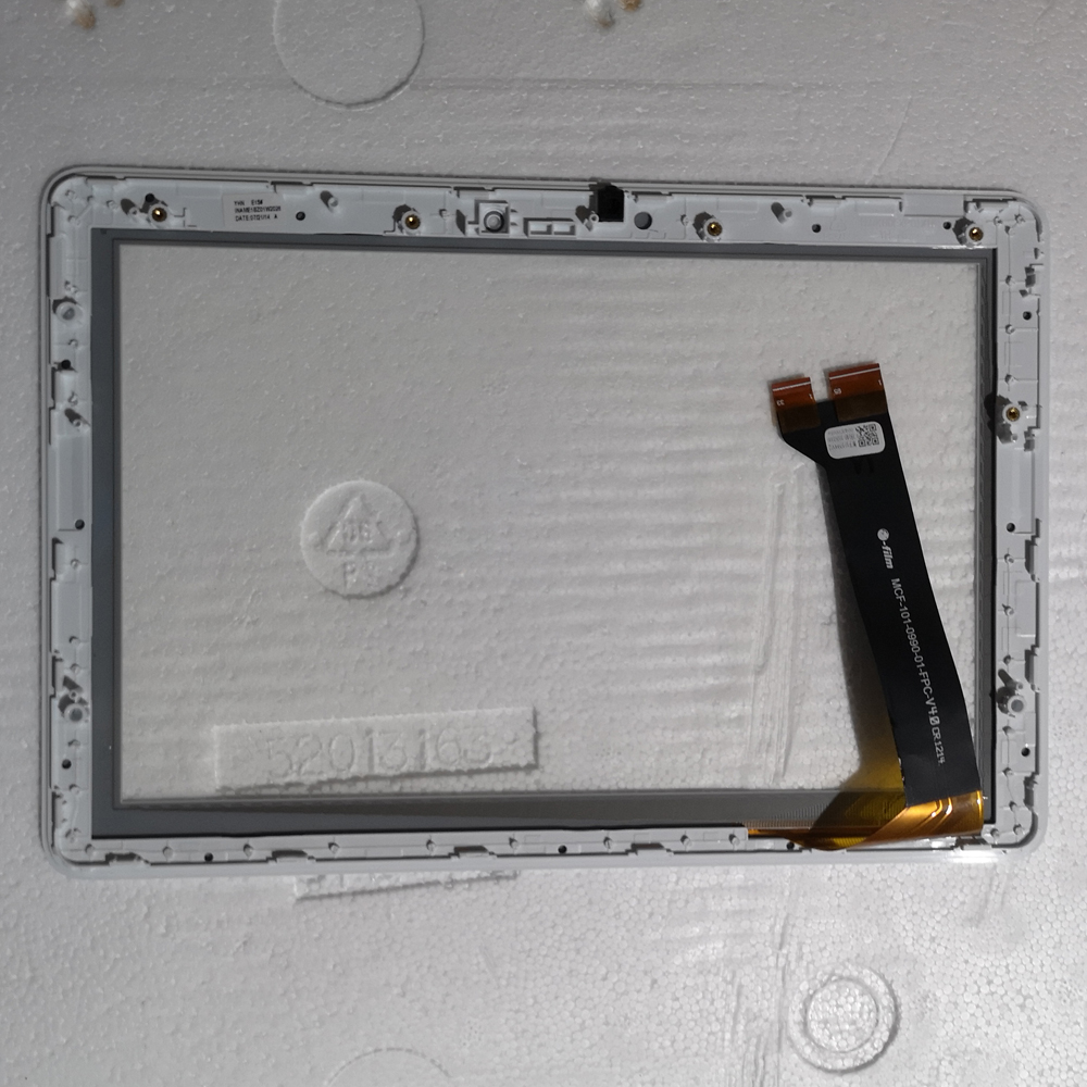 10.1 inch Touchscreen White Touch Screen Panel Glass Digitizer For <font><b>Asus</b></font> MeMO Pad 10 ME102 ME102A <font><b>K00F</b></font> Touch panel with frame image