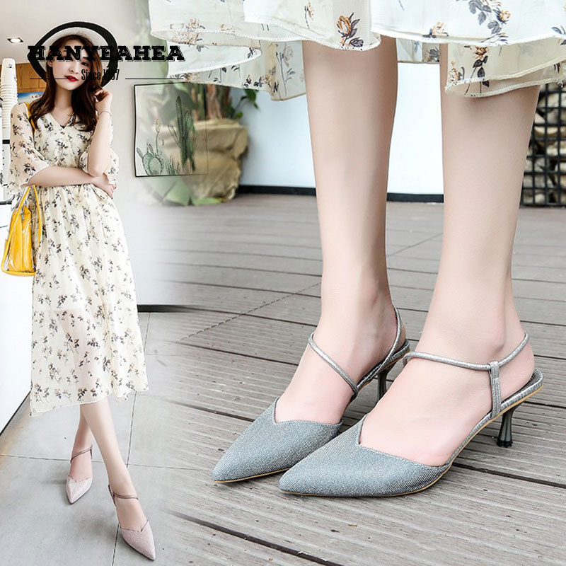 New Arrival Sandalias De Verano Para Mujer Elegane Fashion High Heels Mature Sweet