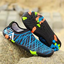 Mężczyźni kobiety buty do wody trampki szybkie suche pływanie obuwie Unisex odkryte oddychające buty na plażę tanie tanio MAIJION CN (pochodzenie) Pasuje prawda na wymiar weź swój normalny rozmiar Spring2018 Slip-on Początkujący Elastycznej tkaniny