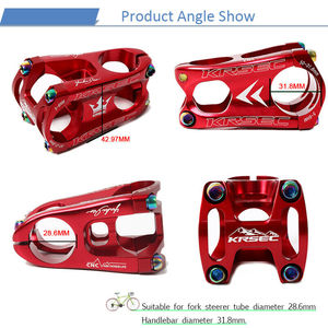 Image 3 - KRSEC Aluminium Vorbau MTB Mountainbike Stem potence velo Titan Schrauben Farben Lenker Short Stem für 28,6mm Fahrrad Gabel