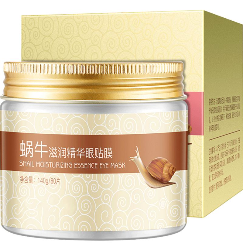 80 Pcs Snail Moisturizing Eye Firming  Mask Gel Remove Fine Lines Dark Circles Nourishing Brightening Eye Patch