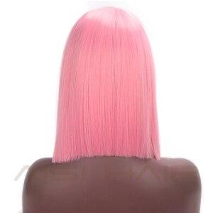 Волосы AISI, розовый синтетический короткий прямой волос, средней части, длина плеч, волосы для женщин, разноцветные, фиолетовые, для косплея