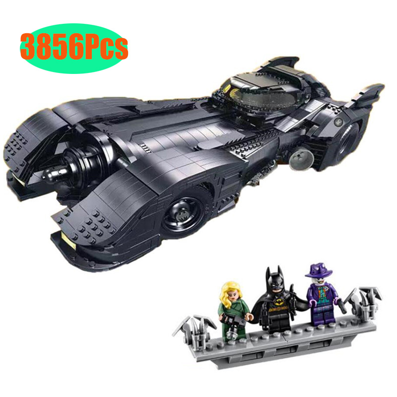 In Stock 76139 Batman 1989 Batmobile Model 3856Pcs Building Kits Blocks Bricks Toys Children Gift Compatible 59005