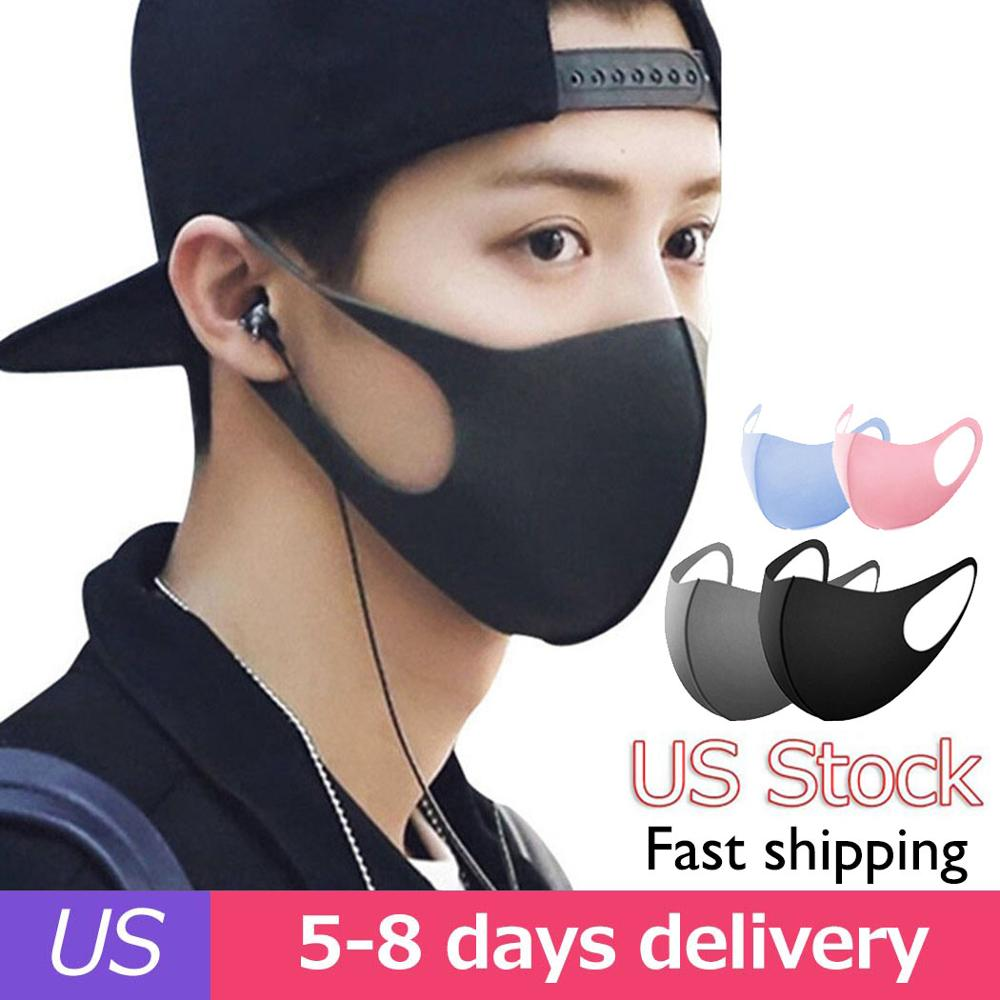 50pcs Breathable Mouth Mask Reusable Anti Pollution Unisex Thin Dust-proof Washable Mask Shield Wind Proof Mouth Cover