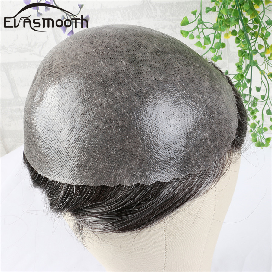 Thin Wig Pu Men Toupee Hair Extensions Real Indian Human Hair Toupee Male Wig Capillary Prosthesis Invisible Knot Hairpiece Man