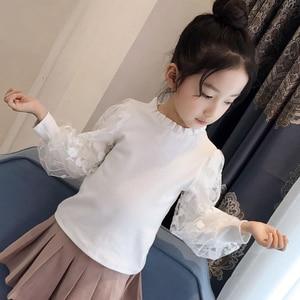 Image 5 - 2019 בנות חולצה סתיו בגדי ילדים עבור בנות 5 6 7 8 9 10 11 12 Y תחרה לבן חולצות בית ספר אחיד גדול בנות צמרות חולצה Fille