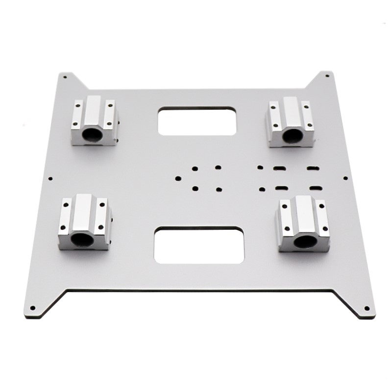 Prusa i3/Wanhao D printer accessories hot <font><b>bed</b></font> aluminum platform <font><b>heated</b></font> <font><b>bed</b></font> Y carriage support aluminum plastic plate <font><b>220</b></font>*200*4MM image