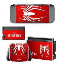 Spider-Man Nintendoswitch Skin vinyl Sticker Decal Cover for Nintendo Switch Full Set Faceplate Stickers Console Joy-Con Dock
