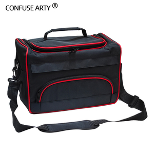 Image 2 - Professional Scissor Bag Salon Hairdressing Tool Multi function Storage Bags Hair Scissors Tool Makeup Case with Strip