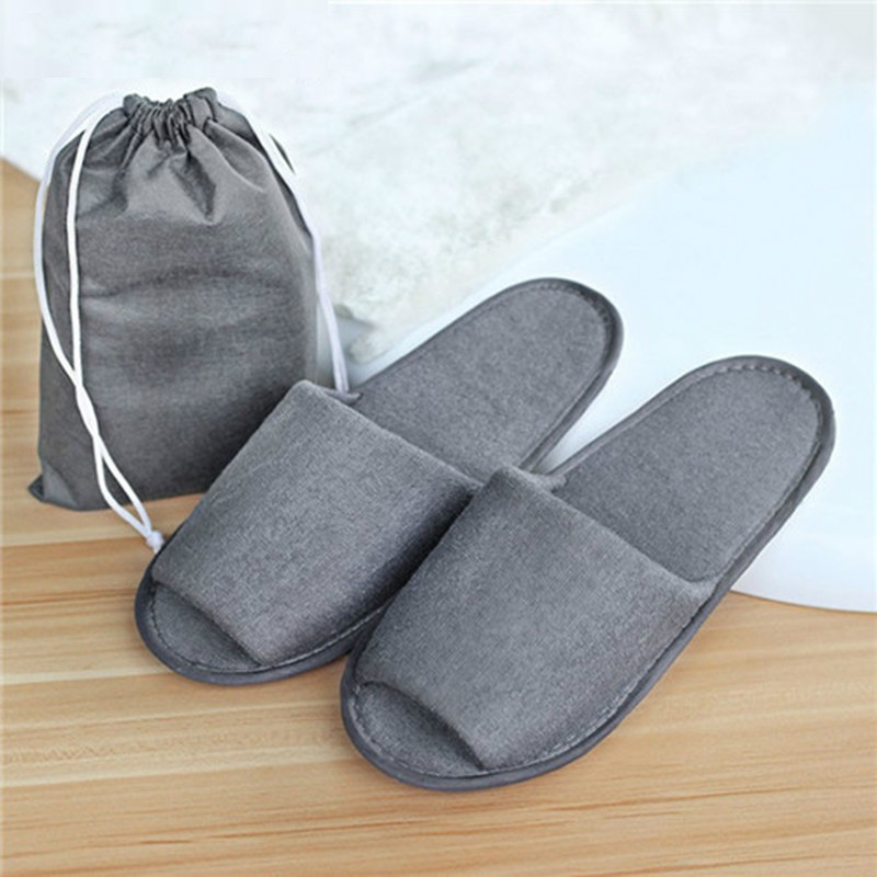 Dropshipping New Simple Slippers Men Women Hotel Travel Spa Portable Folding House Disposable Home Guest Indoor Slippers BigSize