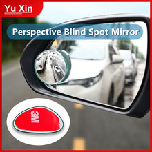 2pcs Car Mirror 360 Degree Wide Angle Convex Blind Spot Mirror Parking Auto Motorcycle Rear View Adjustable Mirror Accessories vodool 2pcs frameless car blind spot mirror 360 degree adjustable wide angle convex rear view mirror car parking rearview mirror