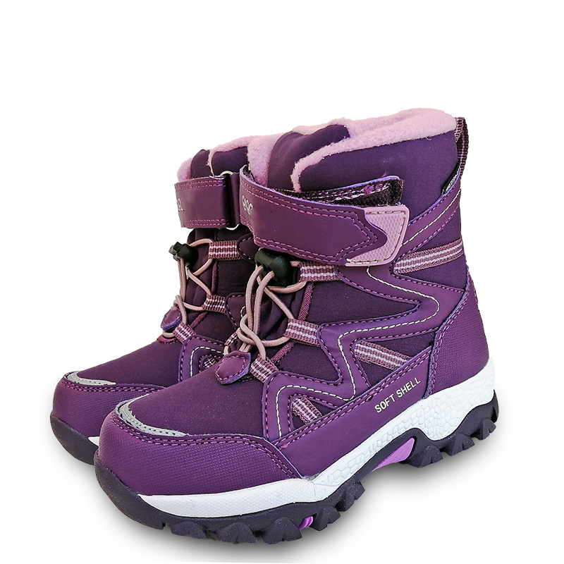 NEW 1pair Waterproof Ski Children Snow Boots Winter Warm Boots, Inner Wool , -40 Or -30 Degrees ,Fashion Kids Girl/Boy Shoes