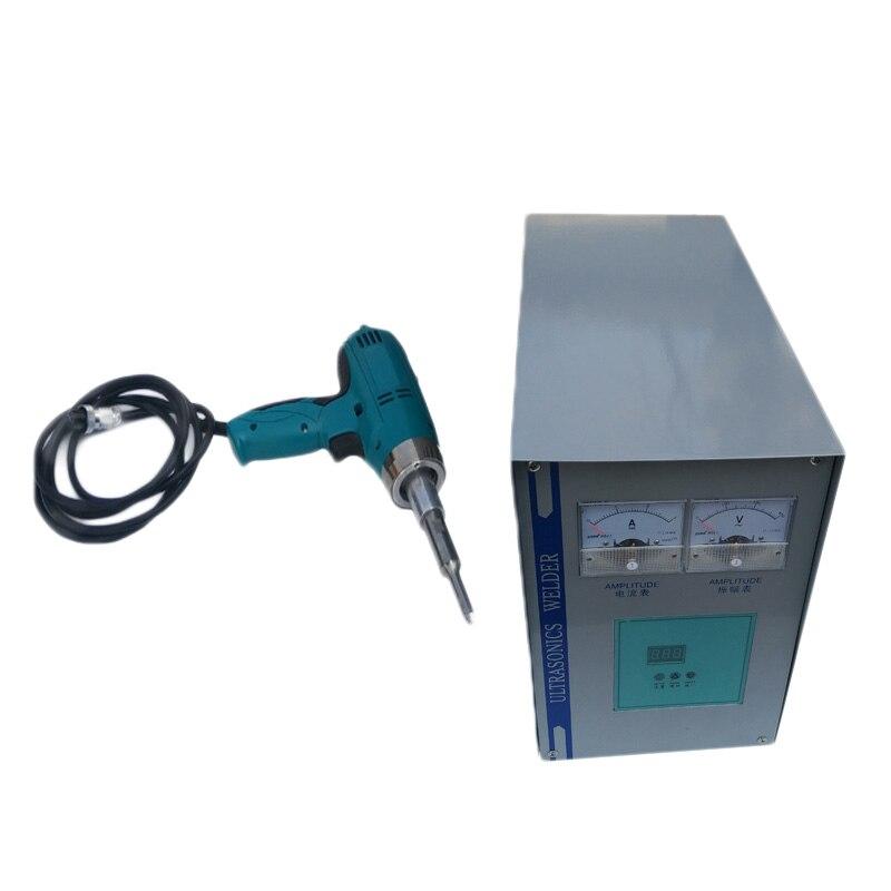 Ручной 800 вт ультразвуковой сварочный аппарат ультразвуковой Пластик сварочный аппарат на липучке для точечной сварки 110/220V