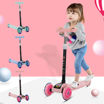 Children's Scooters 3 In 1 Balance Bike Baby Tricycle Car Kick Scooter for Kids Flash Folding Children Bicycle Ride On Toys ride on tricycle kids balance bike portable baby bicycle stroller tricycle scooter learning walk with pedals