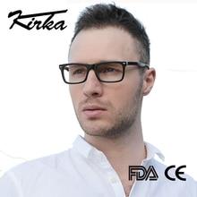 Kirka homem óculos quadro retro designer miopia marca óptica lente clara óculos de homem quadro para homem
