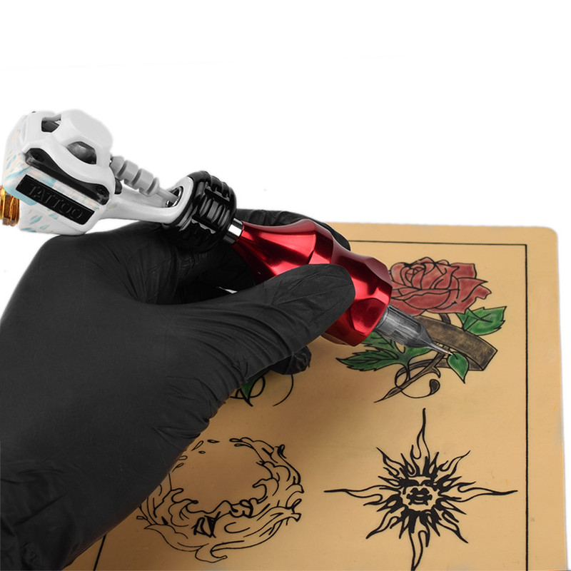 Flower Tattoo Aluminum Alloy Shell Motor Tattoo Machine Body Art Tattoo Device Permanent Tattoo Makeup Supplies accessories