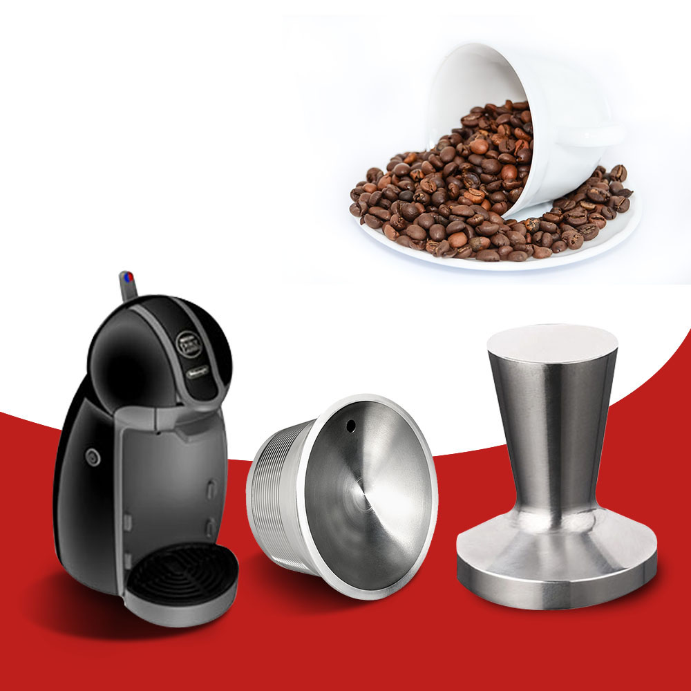 Stainless Steel Dolce Gusto Refillable Coffee Capsule Tamper Filter Baskets Reusable Dripper Kitchen Accessories Christmas Gift