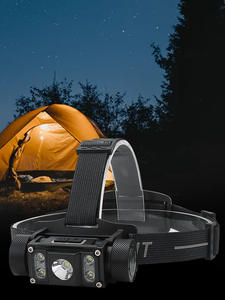 Boruit LED Headlamp B50 Rechargeable 4--Xp-G2 Camping 21700/18650 Max.6000lm XM-L2 TYPE-C