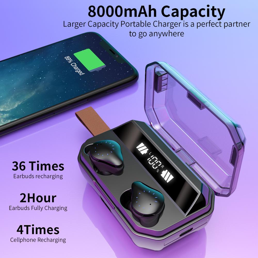 8000mAh boîte de charge TWS AirBoud X12 véritable sans fil Bluetooth 5.0 écouteurs Mini écouteurs avec micro Sport casque pour téléphone intelligent