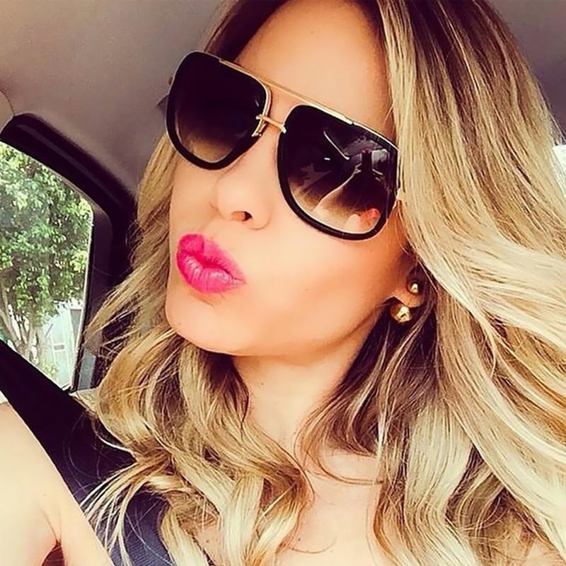 Classic Oversized Men Sunglasses Luxury Brand Women mach one Sun Glasses Square retro Oculos de sol Male UV400 Mirror Eyewear 1
