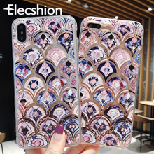 Glitter Quicksand Phone Case For iPhone X XS Max 3D Pattern Cover 6s 7 8 Plus Transparent Shockproof