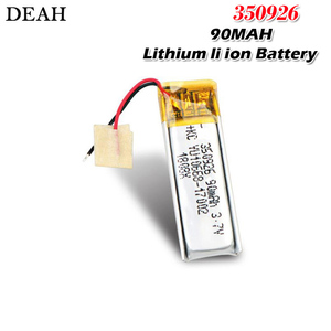 3.7v 90mah 350926 Lithium li ion Polymer rechargeable battery for player MP3 MP4 MP5 GPS DVD tablet Bluetooth camera li-po cell(China)