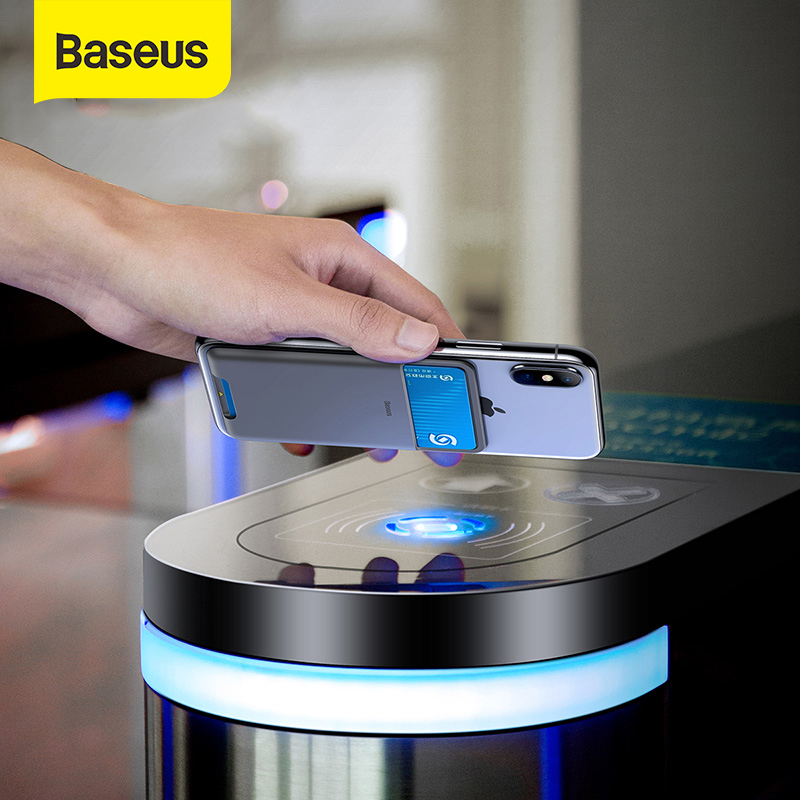 <font><b>Baseus</b></font> Universal Phone Back Wallet Card Slot Superthin Silicone Card Case for <font><b>iPhone</b></font> Xs Max XR Redmi K20 Pro Back Phone Pouch image