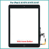 Neue Für iPad Air 1 touchscreen Für iPad 5 A1474 A1475 A147 Touch Screen Panel Digitizer Sensor Front Glas mit home button