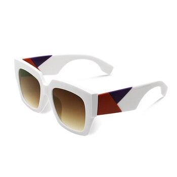 2019 double eleven Square Oversized Sunglasses Women Luxury Brand New Designer Gradient Sun Glasses Big Frame Vintage Eyewear - C3