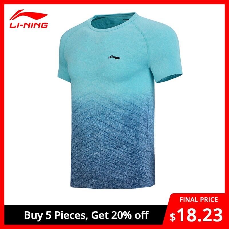 Li-Ning Men Badminton Jerseys T-Shirts Short Sleeve O-Neck Breathable Comfort LiNing Li Ning Sports Tee Tops AAYN169 MTS2723