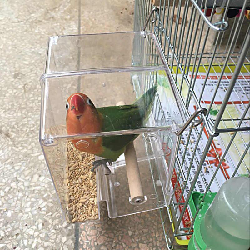 CAITEC perroquet anti-déversement boîte d'alimentation oiseau alimentaire boîte perroquet alimentaire conteneur résistant aux morsures adapté pour les petits oiseaux petit perroquet