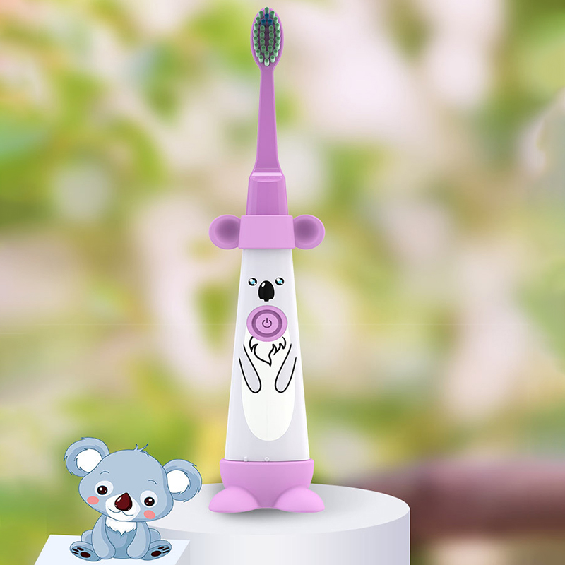 Kids Electric Toothbrush Cartoon Pattern Double-Sided Brush Electric Toothbrush for Kids with 2Pcs Replacement Head