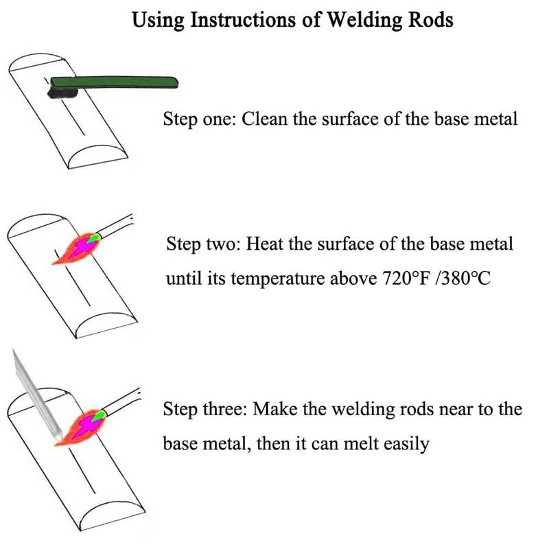 Low Temperature Simple Welding Rods Easy Melt Aluminium Flux Cored Welding