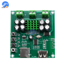 XH M422 TPA3116D2 Bluetooth 4.0 Amplifier Board DC12 24V 50W+50W With Bluetooth U disk TF Card Player Audio Amplificador