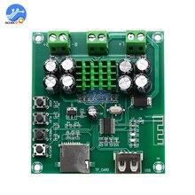 XH M422 Tarjeta amplificadora de Audio TPA3116D2 con Bluetooth, tarjeta amplificadora de Audio con reproductor de tarjeta TF, DC12 24V, 50W + 50W