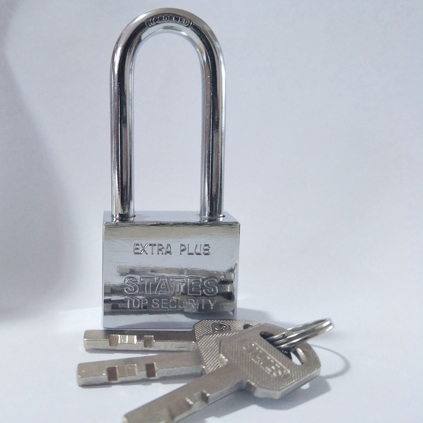 40 Mm Square Leaf Long Beam Iron Padlock Used In Door Cabinet Door Lock